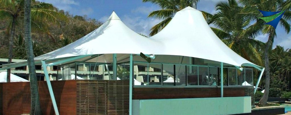 5.  Poolside Shelters