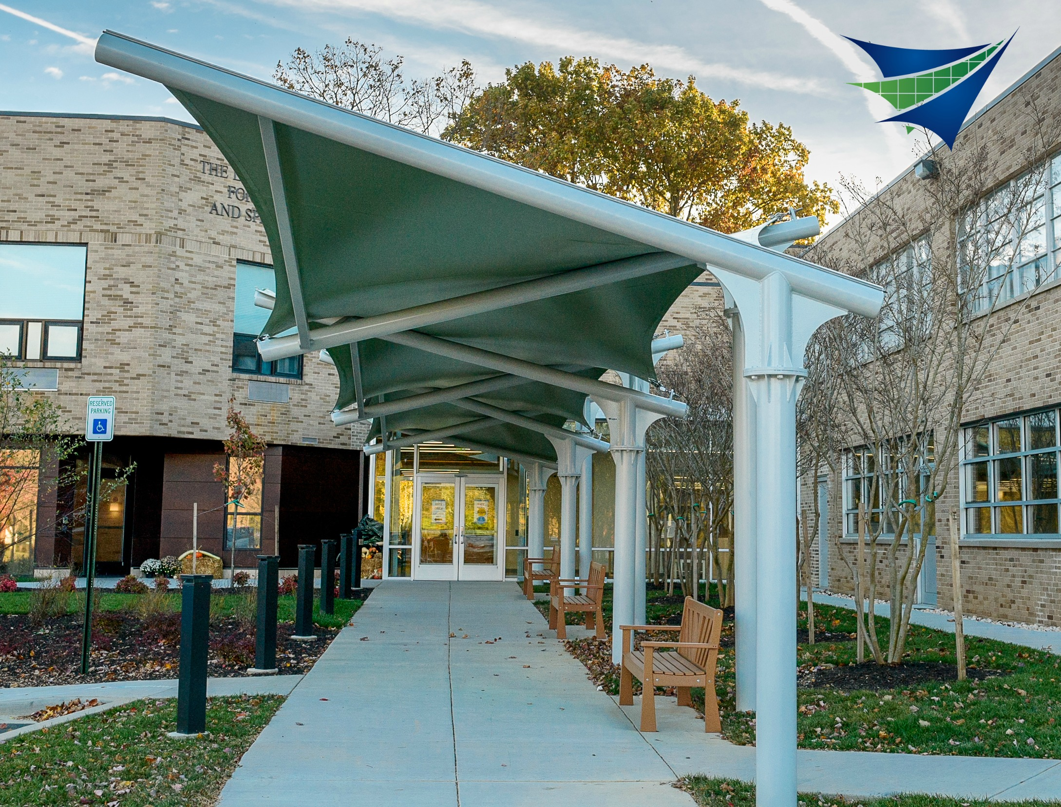 New Main Entrance Canopy for School in Maryland & Maryland School Canopy -