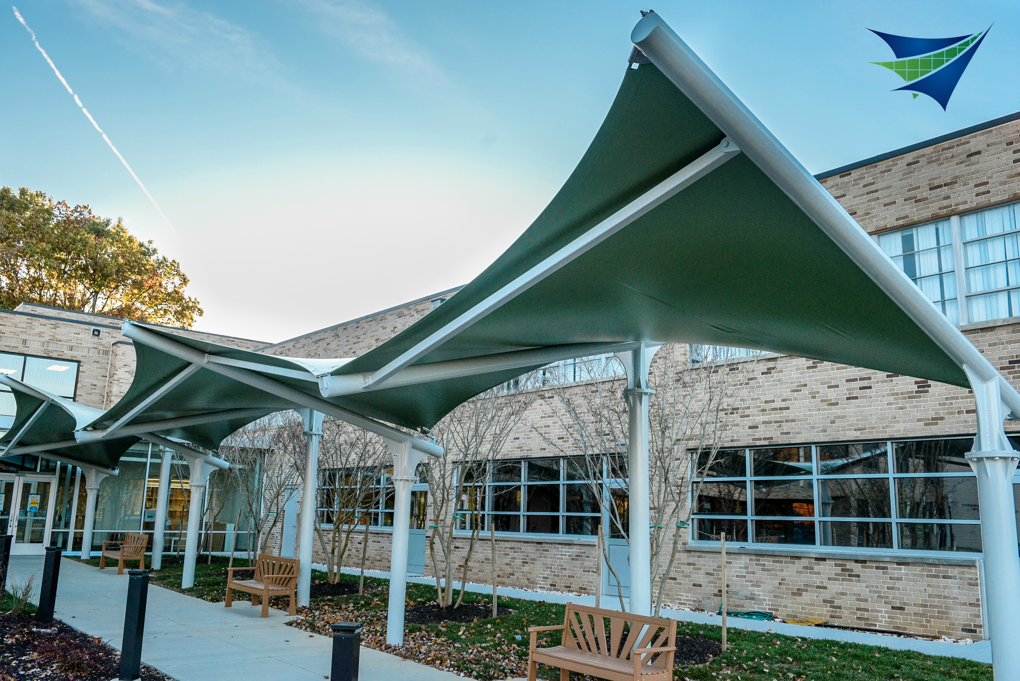 Maryland School Canopy Tensile Structure Systems